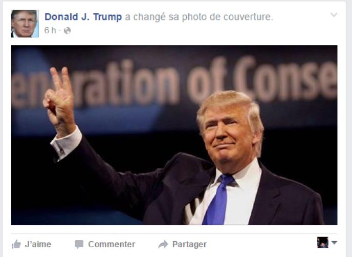La page Facebook de Donald Trump.