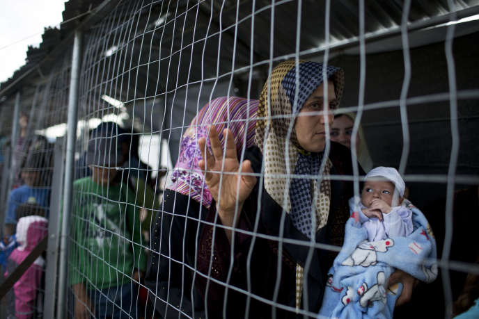 Dans le camp de réfugiés d'Idomeni.