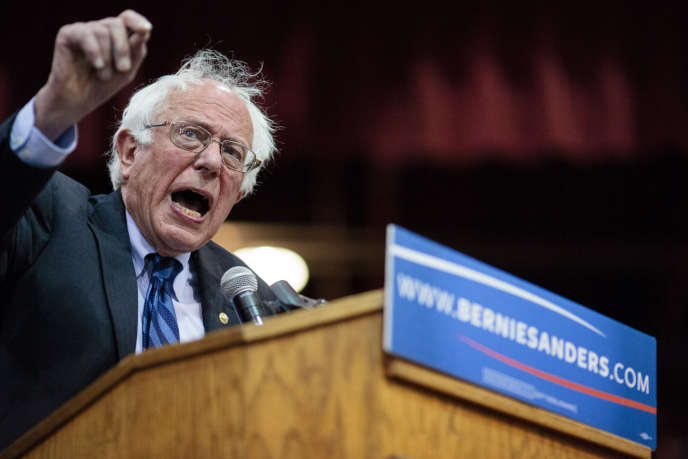 Bernie Sanders en campagne à Salem (Oregon), mardi 10 mai.