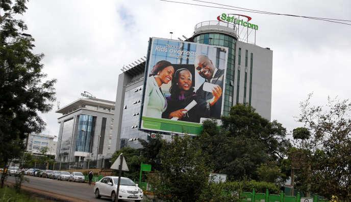 Vue générale du siège de l'opérateur télécom Safaricom, au Kenya, près de l'autorouteWaiyaki, à Nairobi, le11mai2016.