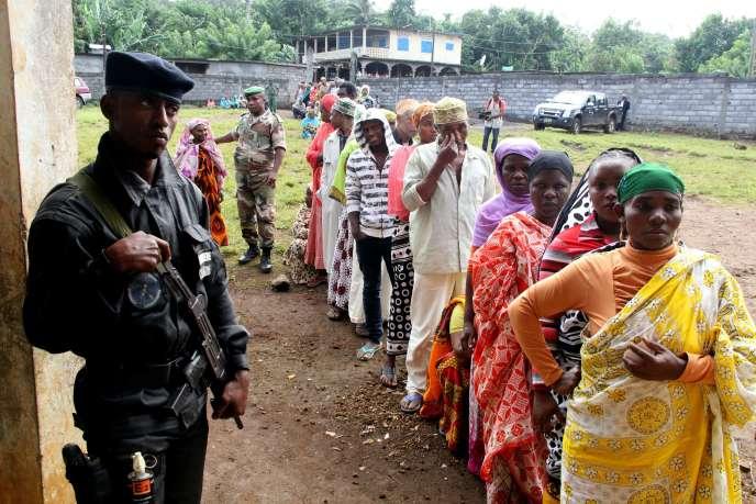 Lors de l'élection partielle du 11 mai, à Mrijou.