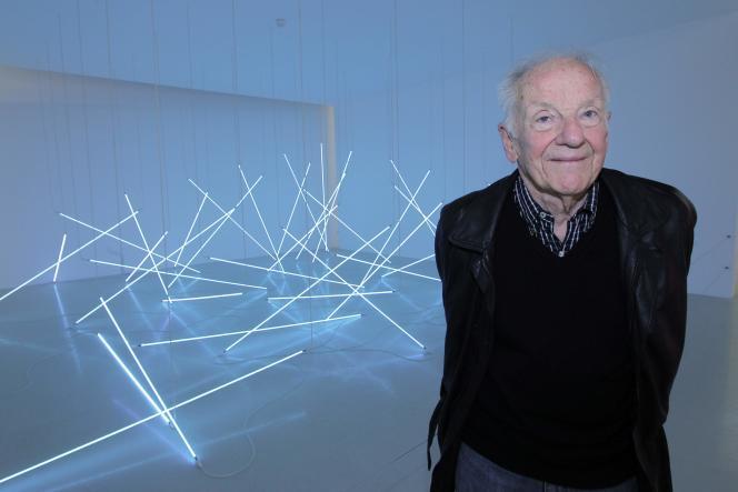 Le peintre lors de sa rétrospective consacrée au Centre Pompidou, à Paris, en 2011.