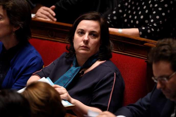 Emmanuelle Cosse, ministre du logement, le 11 mai 2016, à l'Assemblée nationale.