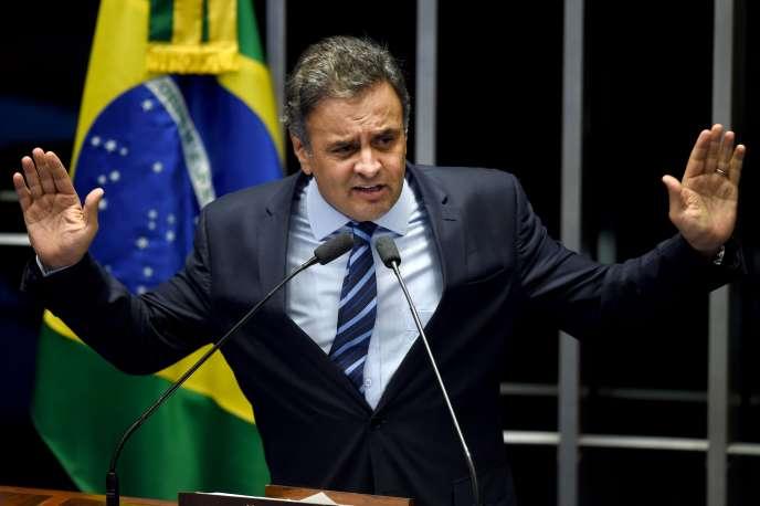 Le sénateur Aecio Neves, le 11 mai 2016.