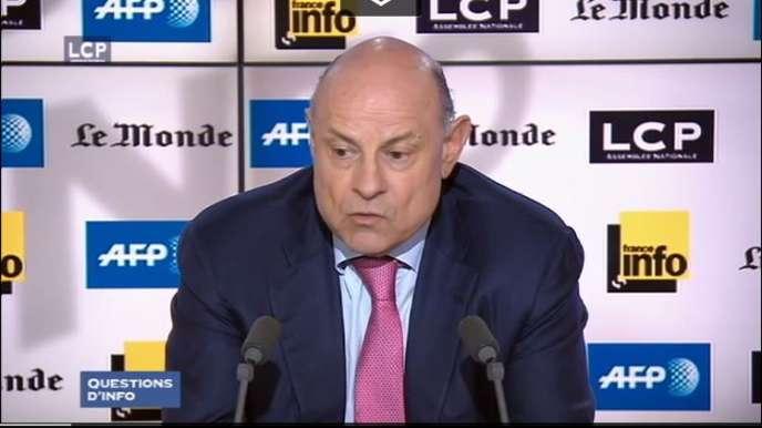 Jean-Marie Le Guen, mercredi 11 mai, lors de l'émission Questions d'info sur LCP en partenariat avec Le Monde, France info et l'AFP.