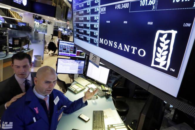 Le cours de Monsanto était en hausse, jeudi 12 mai, à la Bourse de New York.