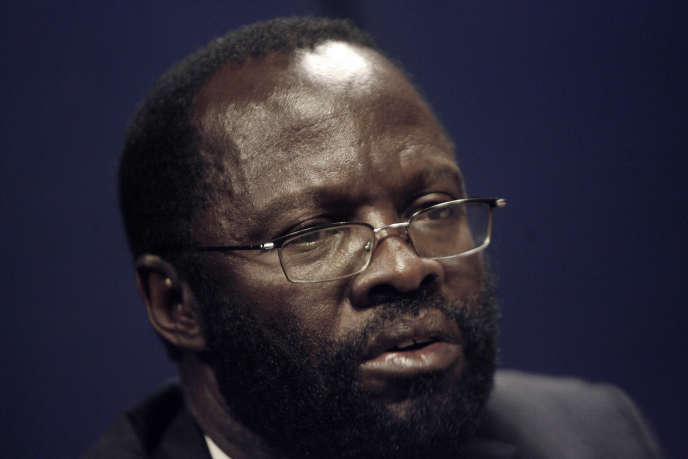Le sénateur Peter Anyang Nyong'o Orange Democratic Movement (ODM) en janvier 2008, à Addis-Abeba, lors du sommet de l'Union africaine.