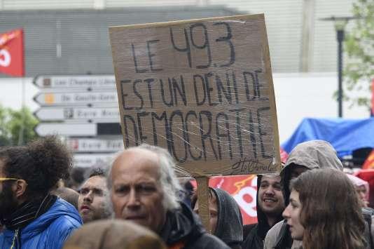 Manifestation contre la loi travail, le 12 mai à Rennes.