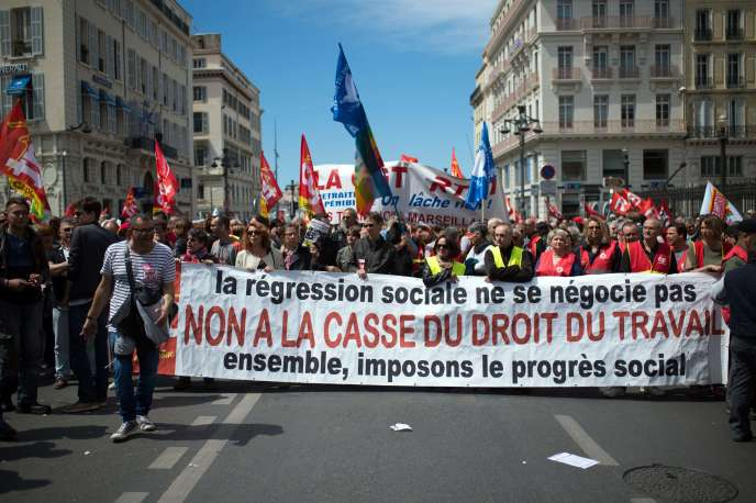 Manifestation à Marseille contre la loi travail, le 12 mai 2016.