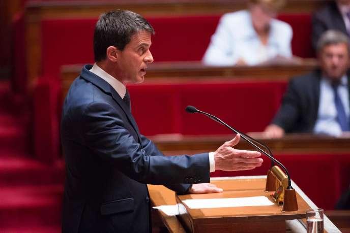 Le premier ministre, Manuel Valls, le 12 mai, à l'Assemblée nationale.