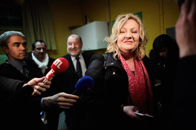 Sophie Montel, conseillère régionale de Bourgogne-Franche-Comté, le 1er février 2015 dans le Doubs.
