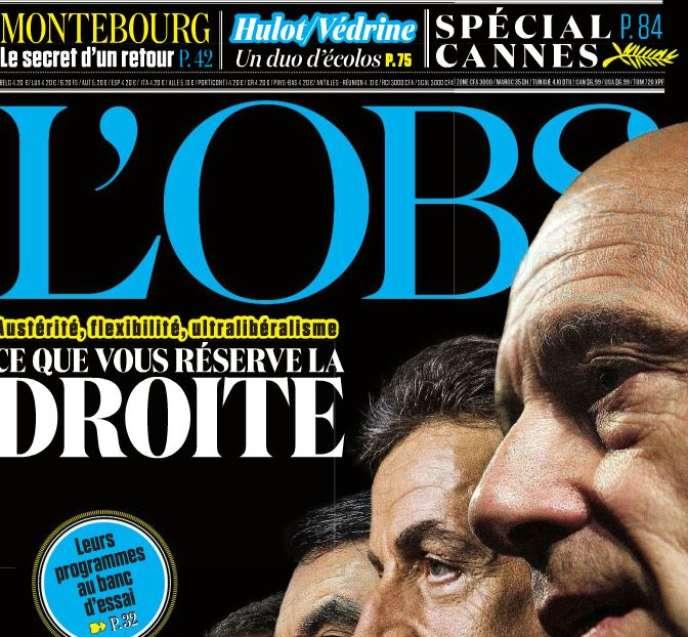 Capture d'écran de la couverture de «L'Obs».