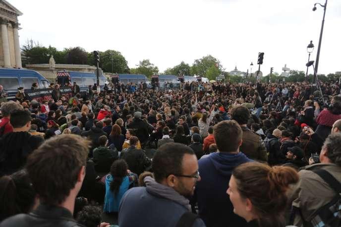 Manifestation contre la réforme du code du travail, le 13 mai, à Paris.