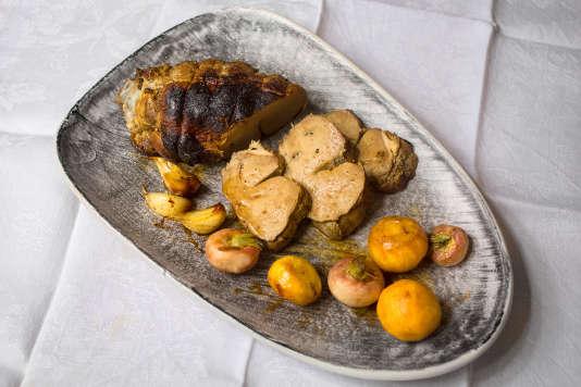 Le rôti de foie de veau de Bénédict Beaugé.
