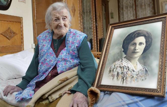 L'actuelle doyenne de la planète, Emma Morano, 116 ans, à Verbania, en Italie, le 13 mai 2016. (Antonino Di Marco/ANSA via AP)