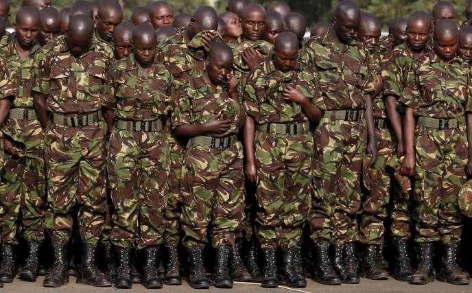 Hommage aux morts de l'attaque d'El-Adde, le 27 janvier à Eldoret (Kenya).