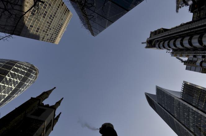 Immeubles de la City de Londres (Angleterre), en décembre 2014.