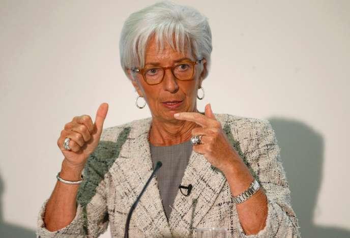 Christine Lagarde, directrice générale du FMI, à Londres le 13 mai.