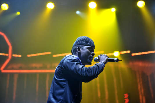 Black M, chanteur du groupe Sexion d'Assaut, en 2010 à Paris.