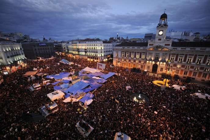 La Puerta del Sol, à Madrid, le 19 mai 2011.
