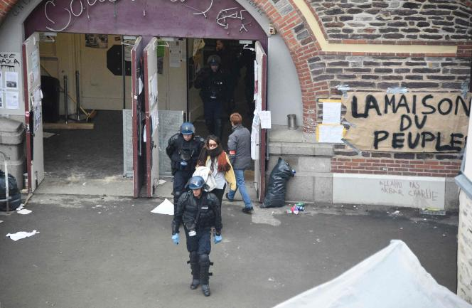 Le 13 mai, la police avait délogé les opposants à la loi travail qui occupaient une salle municipale à Rennes.