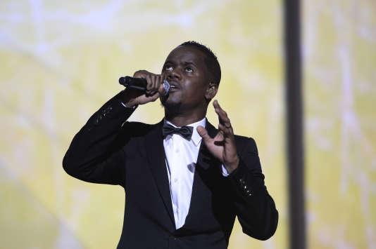 Le rappeur Black M lors de la cérémonie des 30es Victoires de la musique, en février 2015.
