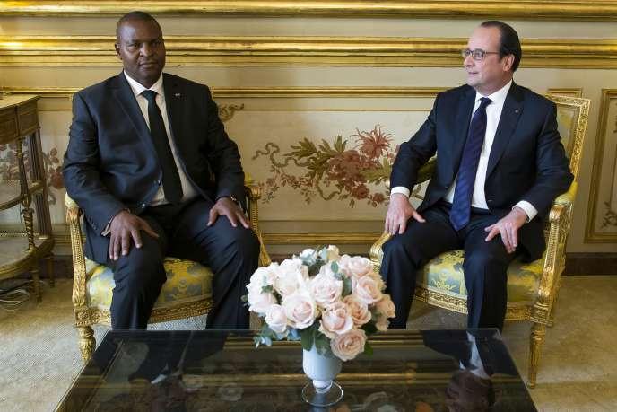 Le 20 avril 2016, François Hollandea reçu à l'Elysée le nouveau président centrafricain Faustin-Archange Touadéra, élu le 30 mars 2016.