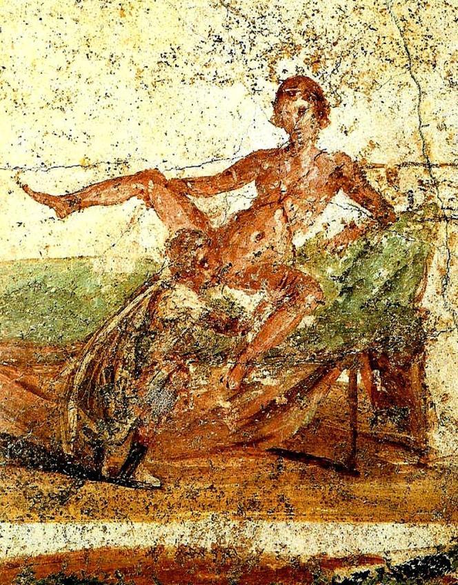 Peinture pompéienne murale 79 av. JC.