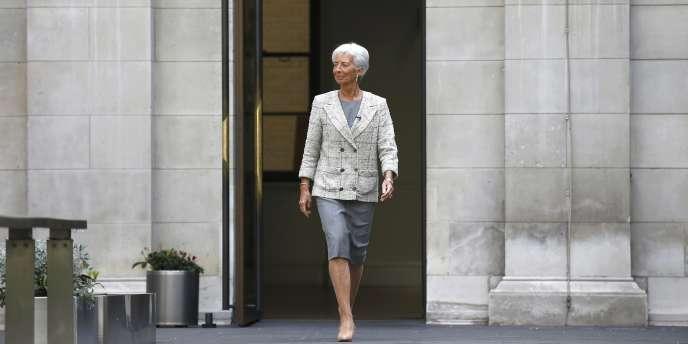 Christine Lagarde, directrice générale du Fonds monétaire international (FMI) depuis 2011, à Londres, le 13 mai.