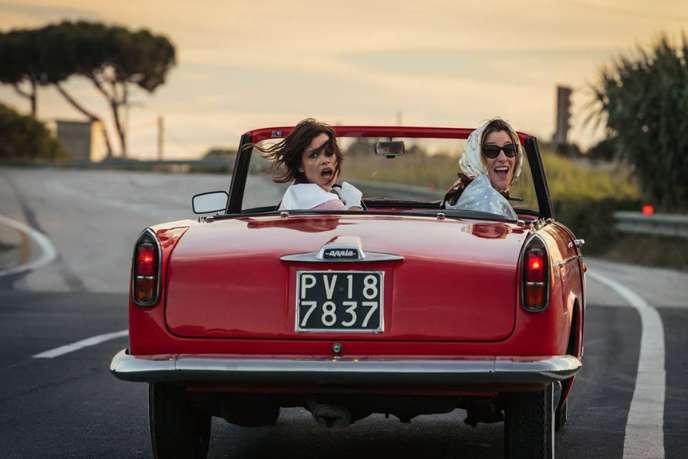 Micaela Ramazzotti et Valeria Bruni-Tedeschi dans le film italien dePaolo Virzi,« La Pazza Gioia» (« Folles de joie»).