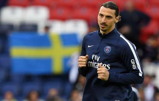 Zlatan Ibrahimovic avant le march PSG-Nantes, en dernière journée de Ligue 1, au Parc des Princes à Paris, samedi 14 mai. Il a annoncé vendredi qu'il allait quitter le PSG à la fin de la saison.