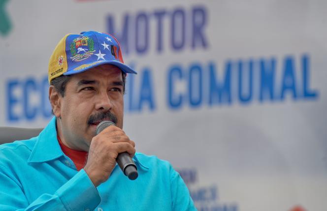 Le président vénézuélien, Nicolas Maduro, s'exprime lors d'un rassemblement à Caracas, le14 mai 2016.