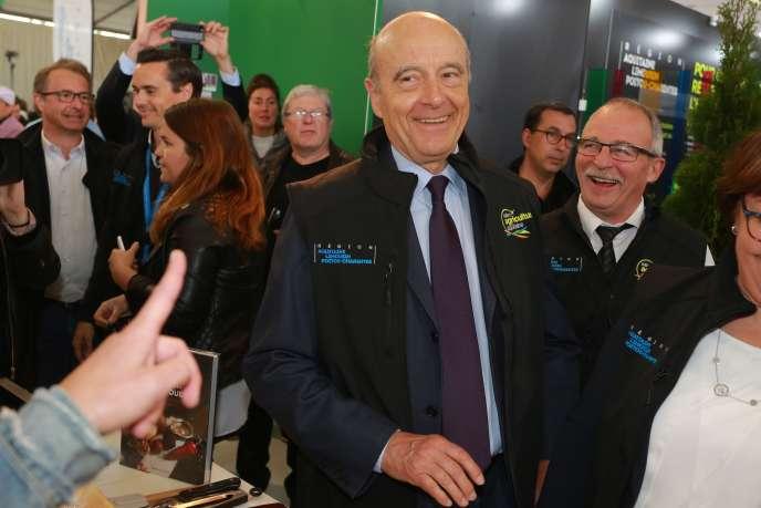 Alain Juppé (Les Républicains), à la Foire de bordeaux, le 14 mai.