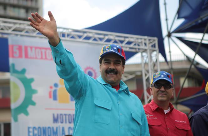 Le président du Venezuela Nicolas Maduro pendant un rassemblement à Caracas, le samedi 14 mai 2016.