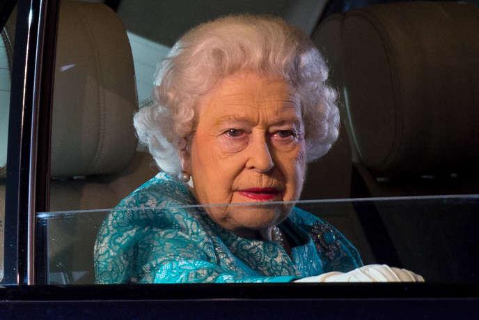 Elizabeth II, le 15 mai 2016, à l'occasion de lacélébration de son 90e anniversaire.