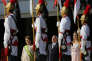 En janvier 2015, Dilma Rousseff (alors présidente), Michel et Marcela Temer, devant lepalais présidentiel du Planalto, à Brasilia.