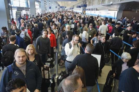 L'aéroport international O'Hare de Chicago, un des plus touchés.