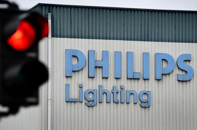 L'usinePhilips de Turnhout, en Belgique, en novembre 2012.