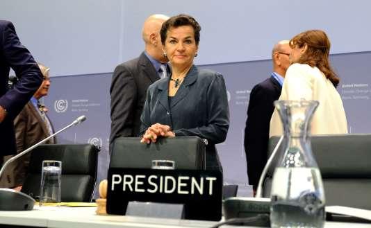 La patronne de la CCNUCC, Christiana Figueres, le 16 mai 2016.