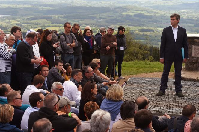 Arnaud Montebourg au mont Beuvray, le 16 mai.