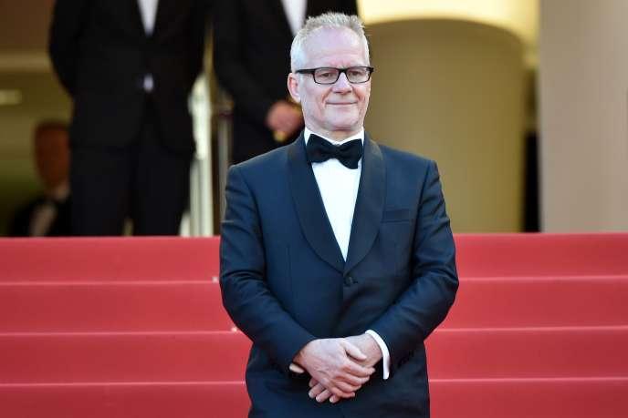 Thierry Frémaux lors de la 69 édition du Festival de Cannes,le 17 mai 2016.