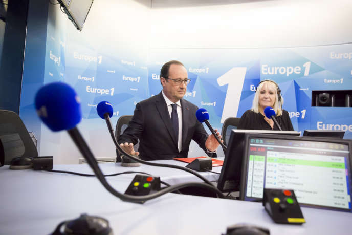François Hollande, président de la République, participe à la matinaled'Europe 1, mardi 17 mai.