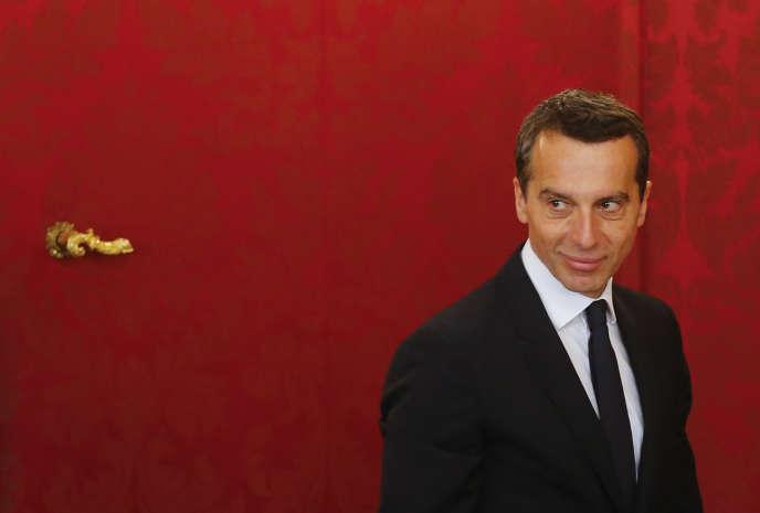Le nouveau chancelier autrichien, Christian Kern, au palais présidentiel à Vienne le 17 mai 2016.