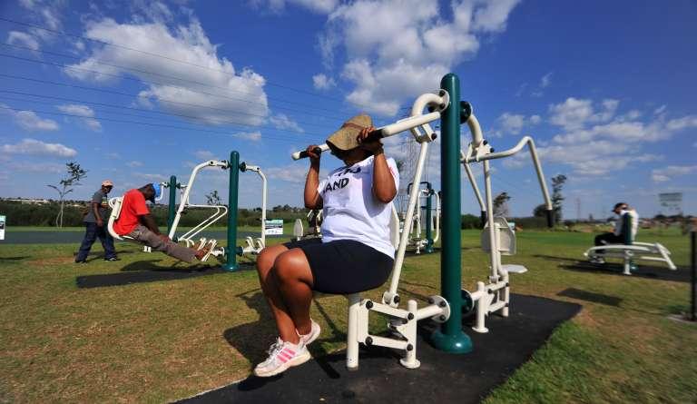 Des installations sportives à Soweto, en Afrique du Sud en mars 2012.
