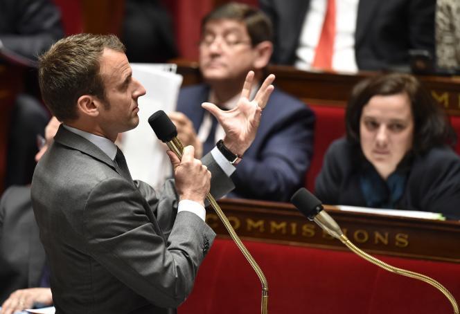 Emmanuel Macron, à l'Assemblée nationale, le 17 mai.