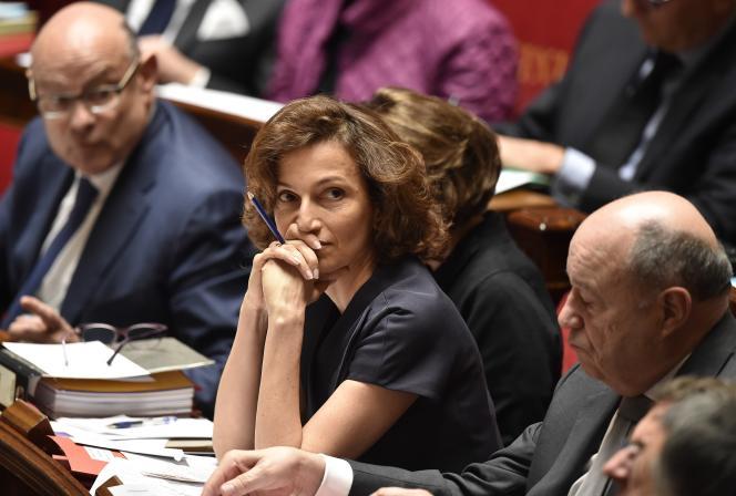 La ministre de la culture, Audrey Azoulay, le 17 mai à l'Assemblée natioale.