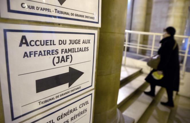 L'accueil dujuge aux affaires familiales, au tribunal de grande instance de Paris.