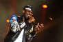 Le rappeur Black M, au festival Le printemps de Bourges, en avril 2015.