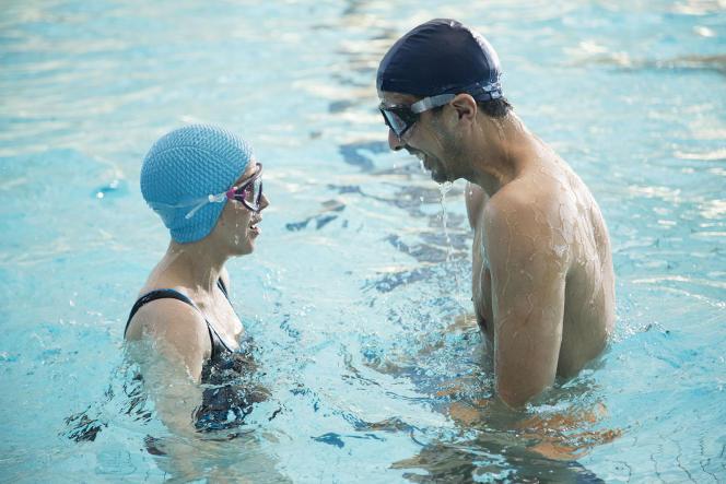 Florence Loiret-Caille etSamir Guesmi dans le film franco-islandais de Solveig Anspach,« L'Effet aquatique».