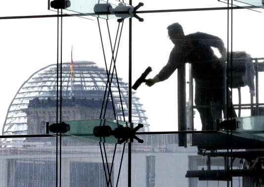 Vue du Reichstag, à Berlin.